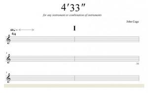 音符のない楽譜