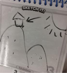 山小屋の絵