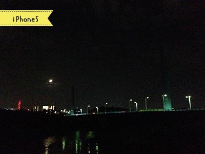 iPhone5で撮った千波大橋の夜景