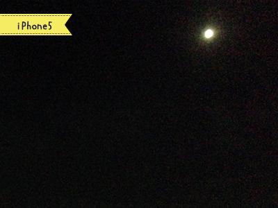 iPhone5で撮った月