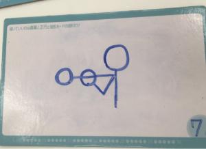 7画で書いた川澄の絵
