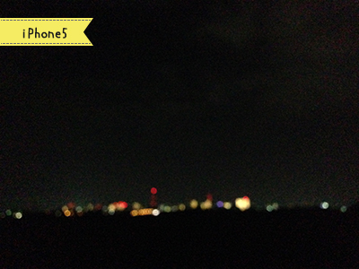 iPhone5で撮った水戸の夜景(ぼかし)
